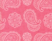 Moda Fabric - Caravan Roundup by Mary Jane Butters - 1/2 yard - 11642-12 Pink Paisley Print - Cotton Fabric