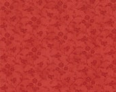 Moda Fabric - Grant Park -  by Minick & Simpson - 1/2 yard - 14777-21 - Red on red floral print- Cotton Fabric
