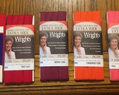 Extra Wide Double Fold Bias Tape - by Wrights  - 1/2 inch - 55 Polyester/45 Cotton -Reds, Orange, Coral Colors