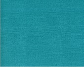 "Moda Fabric - Solana by Robin Pickens - 48626 137 - Cotton Fabric - Teal almost solid 44"" wide - Thatched Pond 1/2 yard"
