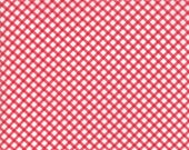 Moda Fabric - Good Tidings by Brenda Riddle - 1/2 yard - 18665-11 Red Check - Cotton Fabric