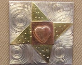 Magnetic Needle Nanny - Friendship Star Quilt Block - by Puffin & Company - For keeping track of your needles