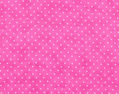 Moda Fabric - Essential Dots - Pink Bubblegum color - 1/2 yard - 8654 - 36 Pink with white dots - Cotton Fabric
