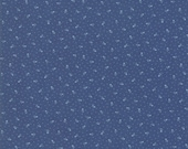 Moda Fabric - Indigo Gatherings by Primitive Gatherings 1297-19 - 1/2 yard - Navy with light blue small print - Cotton Fabric