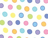 Moda Fabric - White with Multi-colored dots - Dot Dot Dash by Me and My Sister - 1/2 yard - 22262-20 - Cotton Fabric
