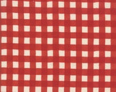 Moda Fabric - Cultivate Kindness by Deb Strain for Moda - 19935 13 -  Red and off white Check - 100% cotton fabric- 1/2 yard pricing