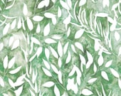 Moda Fabric - Brightly Blooming - Create Joy Project by Laura Muir - Green with leaves 8431 13D - Cotton Fabric - 1/2 yard pricing
