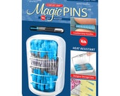 "Magic Pins - 1 3/4"" sharp straight pins with Heat-resistant grips"