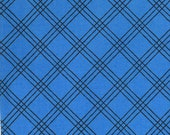 Moda Fabric Berenstain Bears - Welcome To Bear Country  Cotton Fabric - Royal Blue Plaid 55507-12 - 1/2 yard