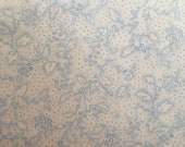 Moda Fabric - Sakura Park I by Sentimental Studios - 32695 12 - white with light blue swirl design- cotton fabric- 1/2 yard
