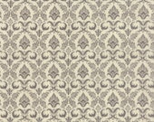 Moda Fabric - Black Tie Affair -  by Basic Grey - 1/2 yard - 30421-12 - Taupe and Beige floral print- Cotton Fabric