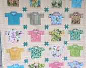 Island Sun Quilt Kit with Seafoam Turquoise stars - Hawaiian Shirts - Northcott Fabric -  Sunshine Quilt Pattern - Tropical