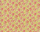 Moda Fabric - Coco by Chez Moi 33393 - 16 - 1/2 yard -  Green with small print Floral design - Cotton Fabric