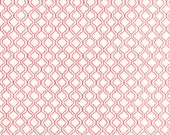 Moda Fabric - Ever After by Deb Strain - 19748 12 - 1/2 yard - Off-white with red design - cotton fabric