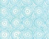"Moda Fabric - Longitude Batiks by Kate Spain - 1/2 yard - 27259 - 88 light aqua and off white Batik print - Cotton Batik Fabric - 44"" wide"