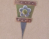 Magnetic Micro Needle Threader - Flower Pot - by Puffin & Company - For small needle eyes
