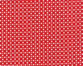 Moda Fabric - Mama's Cottage - 1/2 yard - 24054-11 Red Check - Cotton Fabric