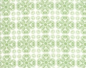 Moda Fabric - Good Tidings by Brenda Riddle - 1/2 yard - 18662-14 White with light green overall design - Cotton Fabric
