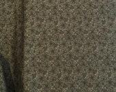 Moda Fabric - Butterfly Garden - Kansas Troubles - Dark Green -  1/2 yard - 9283 - 15 Dark Green with floral design - Cotton Fabric