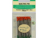 "Clover Glass Head Quilting Pins - 1 7/8"" sharp straight pins - Very sharp - great for Quilt Piecing"