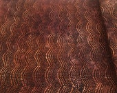 "Batik - Moda Over the Rainbow by Laundry Basket Quilts - 41014 30 - 100% cotton Rich Brown Rust batik fabric - 44"" wide - 1/2 yard"