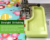 Clover 6-in-1 Stick 'n Stitch Guide - A reusable guide that sticks to your sewing machine to help you sew straight!!