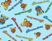 Moda Fabric - Berenstain Bears -  Welcome To Bear Country  Cotton Fabric - Blue - 55503   - Fat Quarter