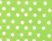 Moda Fabric - Berenstain Bears - Welcome To Bear Country Cotton Fabric- Lime Green Dot 55506 27 - Fat Quarter
