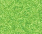Moda Fabric - Marble Swirl - Lime Green - 1/2 yard - 9908 - 44 Lime Green with swirls - Cotton Fabric