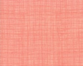 Moda Fabric - Bayberry by Kate and Birdie - 1/2 yard - 13108- 58 Coral Linen-look print - Cotton Fabric