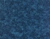 Moda Fabric - Marble Swirl - Stormy Sea Dark Blue - 1/2 yard - 9908 - 95 Dark Blue with swirls - Cotton Fabric