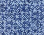 "Moda Fabric - Longitude Batiks by Kate Spain - 1/2 yard - 27259 - 168 Light Navy and off white Batik print - Cotton Batik Fabric - 44"" wide"
