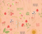 Moda Fabric - The Front Porch by Sherri and Chelsi - 1/2 yard - 37540-12 coral Print - Cotton Fabric