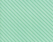 Moda Fabric - Strawberry Jam by Corey Yoder - 1/2 yard - 29066 - 28 Mint Green Diagonal print - Cotton Fabric