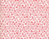 Moda Fabric - A Blooming Bunch - Maureen McCormick - 1/2 yard - 40047 31 - off-white with pink small flowers - cotton fabric