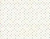 Moda Fabric - Essentially Yours Dots - Off white with multi-color dots - 1/2 yard  - 8654 - 137 Multi dots - Cotton Fabric