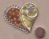 Magnetic Needle Nanny - Heart with star - by Puffin & Company - For keeping track of your needles