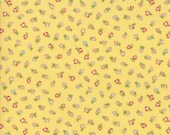 Moda Fabric - Coco by Chez Moi 33395 - 11 - 1/2 yard - Yellow with small print Floral design - Cotton Fabric