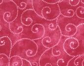 Moda Fabric - Marble Swirl - Raspberry - 1/2 yard - 9908 - 62 Raspberry with swirls - Cotton Fabric