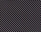 Moda Fabric - Dottie - Black with white dots - 1/2 yard - 45009 - 68 Black with white dots - Cotton Fabric