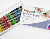 Pentel Arts Fabric Fun Pastel Dye Sticks - 15 Colors