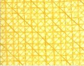 "Moda Fabric - Solana by Robin Pickens - 48685 12 - Cotton Fabric - Yellow - criss-cross Buttercup - 44"" wide - Solana 1/2 yard"