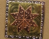 Magnetic Needle Nanny - Quilt Block Star - by Puffin & Company - For keeping track of your needles