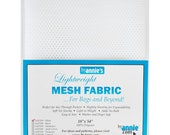 """Mesh Fabric - by Annie - 18""""x54"""" - 100% polyester - Color - white - Mesh Fabric by Annie"""
