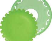 Clover Quick Yo-Yo maker - Small - Green - A quick and easy way to make beautiful yo-yos - by Clover