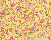 Moda Fabric - Coco by Chez Moi 33392 - 11 - 1/2 yard - Yellow with Floral design - Cotton Fabric