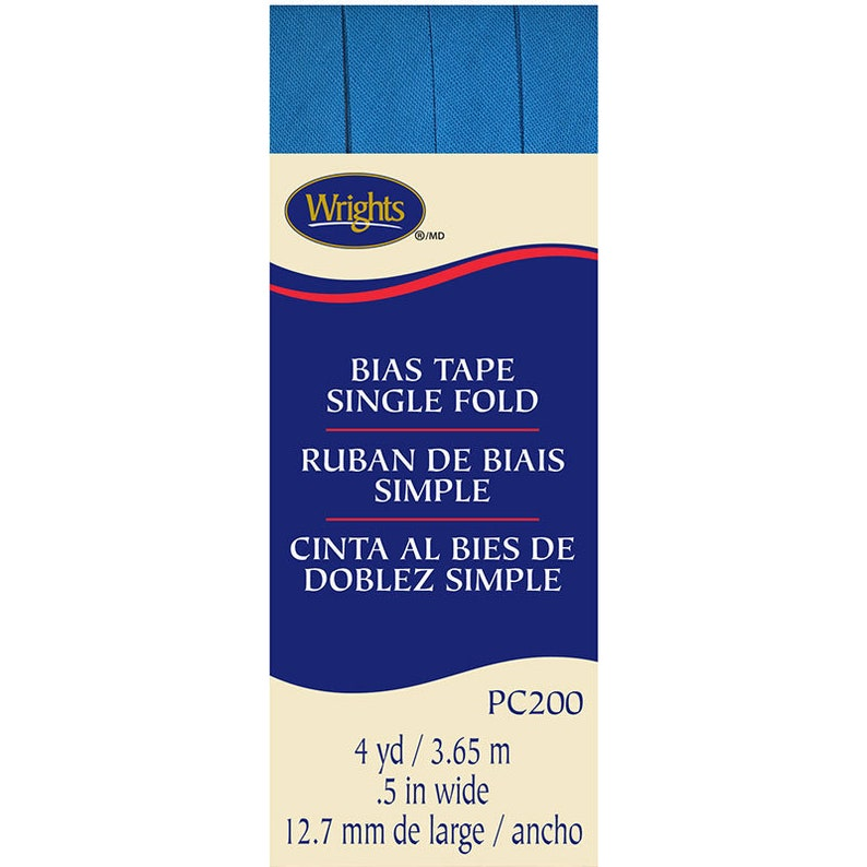 Extra Wide Double Fold Bias Tape  by Wrights   1/2 inch  55 image 1