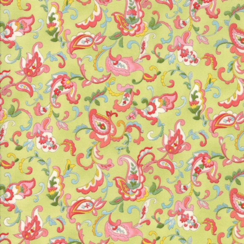 Moda Fabric  Coco by Chez Moi 33392  16  1/2 yard  Green image 0