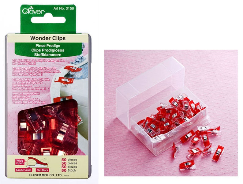Clover Wonder Clips  50 ct.  Color Red image 0