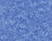 Moda Fabric - Marble Swirl - Bright Blue - 1/2 yard - 9908 - 43 Bright Blue with swirls - Cotton Fabric